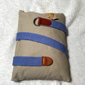 EDDIE BAUER Blue Adjustable Fabric Belt Size M